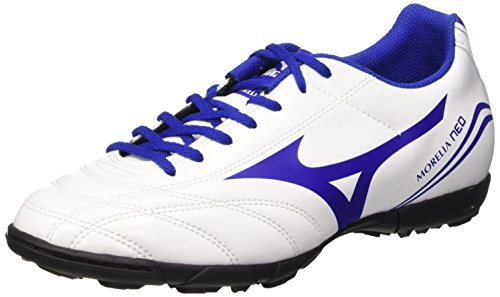 Mizuno Morelia Neo Cl As, Chaussures de Football Amricain Homme Blanc (Blanc/SurftheWeb/ChineseRed)