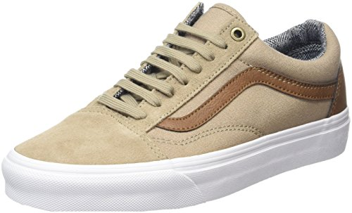 Vans Old Skool Scarpe da skater, Basse, Unisex, Adulto, Beige (C&L Silver Mink/True White), 42.5