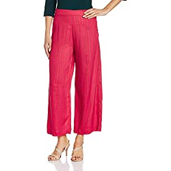 W for Woman Women's Relaxed Pants (16AU60234-58298_Pink_10)