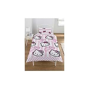 Zap Hello Kitty Candy Stripe Single Duvet