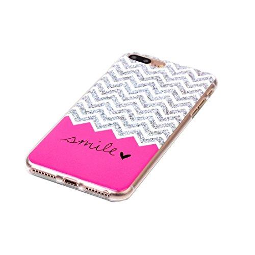 Hülle für iPhone 7 plus , Schutzhülle Für iPhone 7 Plus Bunte Streifen und schwarze Punkte Muster Soft TPU Schutzhülle Rückseite Cover Shell ,hülle für iPhone 7 plus , case for iphone 7 plus ( SKU : I IP7P2204M