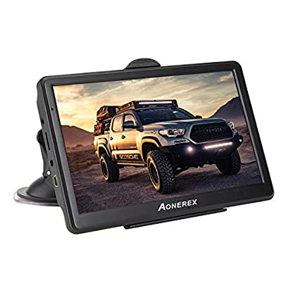 Aonerex-Navigationsgert-7-Zoll-GPS-Navi-Navigation-Resistivem-Display-Navigationssystem-Mehrsprachig-fr-Auto-LKW-PKW-KFZ-8GB256MB-Lebenslange-Kartenupdates-52-Karten-fr-Europa-UK