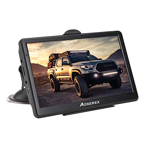 erät 7 Zoll GPS Navi Navigation Resistivem Display Navigationssystem Mehrsprachig für Auto LKW PKW KFZ 8GB/256MB Lebenslange Kartenupdates 52 Karten für Europa UK ()