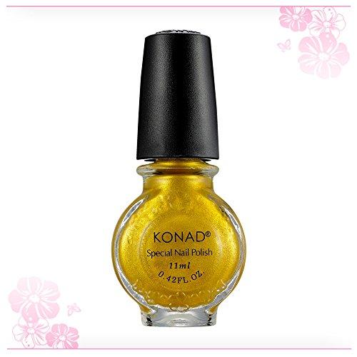 KONAD Stamping Lack Nagellack Gold 11ml Stampinglack