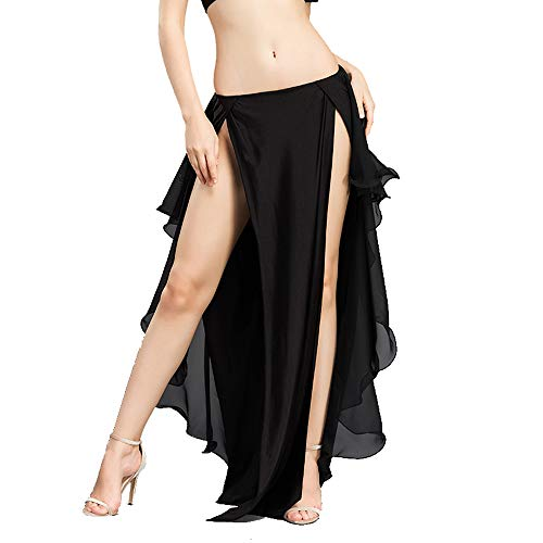 Falten Kostüm - ROYAL SMEELA Bauchtanz Kostüm Rock Bauchtanz Frauen Mädchen Chiffon Röcke Kurz Elegant Chiffon Tanzkostüme Kleidung