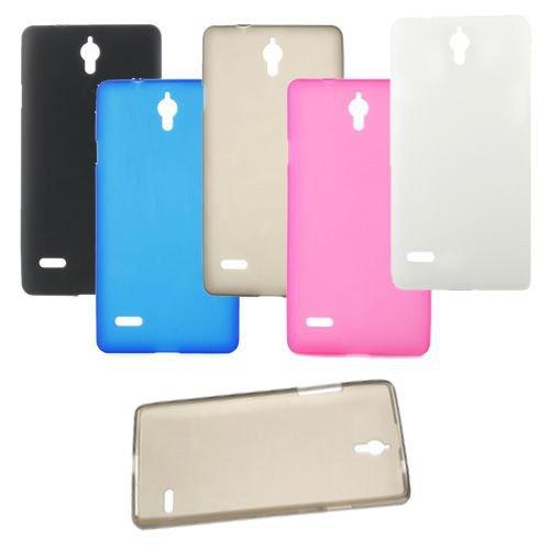 jbTec® TPU-Case / Hülle zu Huawei Ascend G700 - Handy-Schutzhülle, Farbe:Blau-Transparent