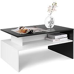 Mesa de centro elevable para Salón blanco y negro