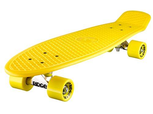 Ridge Skateboard Big Brother Nickel 69 cm Mini Cruiser, gelb/gelb