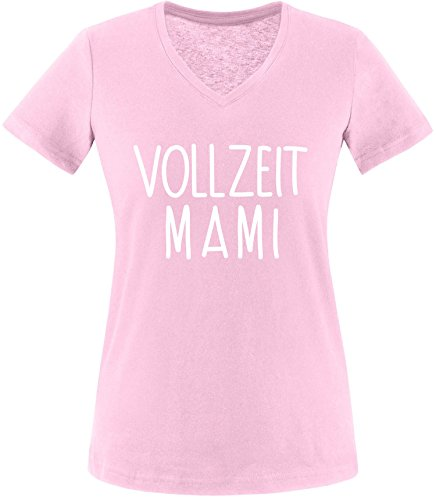 EZYshirt® Vollzeit Mami Damen V-Neck T-Shirt