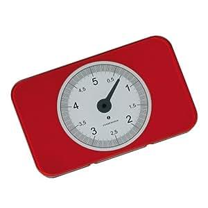 Zassenhaus 5 Kg Digital Kitchen Weighing Scale, Red