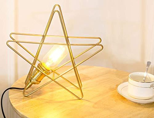 Metallic-breite Schreibtisch (CCLAY Kreative Tischlampe, Nordic Art Pentagram Tischlampe Nachttischlampe Moderne einfache LED Tischlampe Nachttischlampe Studie Schreibtisch Leselampe,Metallic)