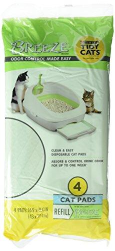 Tidy Cat BREEZE Cat Refill Pads 16.9 x 11.4 - (4 packs - 4ct) by BREEZE Litter System (Cat-refill-pads)