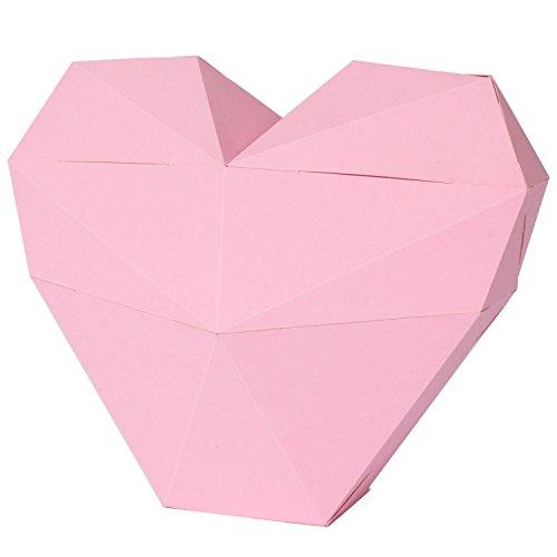 PaperShape 3D Herz aus FSC-Papier als Geschenk Oder Geschenkbox Zum Hochzeitstag Muttertag Oder Valentinstag. Einfach Zusammenstecken. Made in Germany (Authentic Rose)
