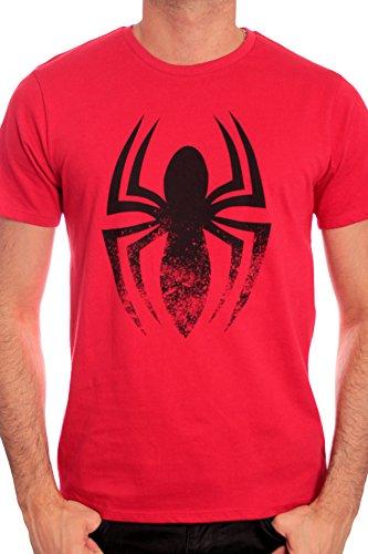 Marvel Herren T-Shirt, bedruckt Rot