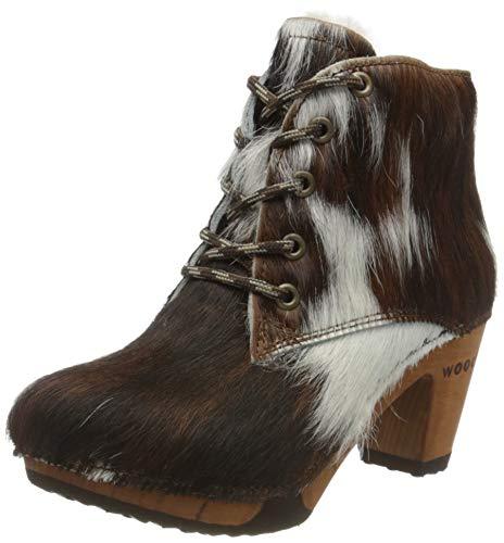Woody Damen Betty Kurzschaft Stiefel, Mehrfarbig (natur), 39 EU