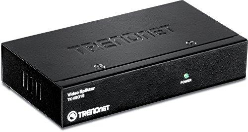 TRENDnet 2-facher stapelbarer Video Splitter, Videoauflösung mit bis zu 1920 x 1440, Drei Geräte lassen sich hintereinander schalten, TK-V201S