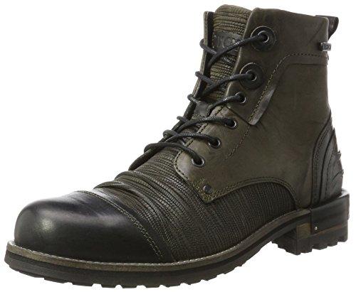 Yellow Cab Herren Tear M Biker Boots, Grün (Green), 46 EU