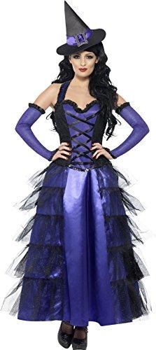 uröse Hexe Kostüm, Kleid, Handschuhe und Hut, Größe: M, 29634 (Glamouröse Hexe Kostüme)
