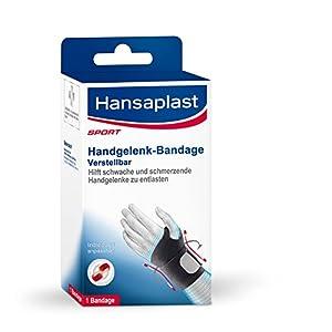Hansaplast Handgelenk-Bandage, Handbandage für schwache oder schmerzende Handgelenke, entlastende Handgelenkstütze für Alltag, Hobby und Sport