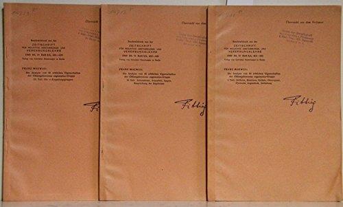 Die Analyse von 42 erblichen Eigenschaften der Chlymydomana eugametos-Gruppe. 3 Teile. 1. Zellform, Membran, Geiseln, Chloroplast, Pyrenoid, Augenfleck, Zellteilung. - 2. Zellresistenz, Sexualität, Zygote, Besprechung der Ergebnisse. - 3. Die 10 Kopplungsgruppen. (= Sonderabdrucke aus der Zeitschrift für induktive Abstammungs- und Vererbungslehre, 1940 Bd. 78, Heft 3/4)