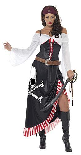 (Smiffys Damen Piratin Kostüm, Oberteil, Rock und Gürtel, Größe: M, 38062)