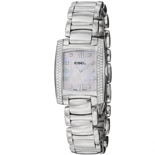 Ebel 1215933 Stainless Steel & Diamond Womens Watch MOP Dial 9976M28/9830500