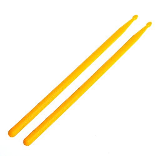 LLLucky 2Pcs Bacchette per Chitarra Leggera Set di Bastoncini di Nylon con Punta Bacchette per Batteria Batti Gli Attrezzi Gialli