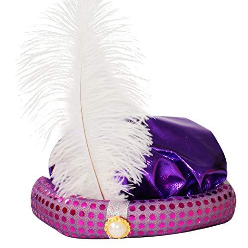FunPa Halloween Kinder Hut, Halloween Hut Mode Pailletten Feder Aladdin Rollenspiel Party Hut kostüm Hut (Aladdin Hut Kostüm)