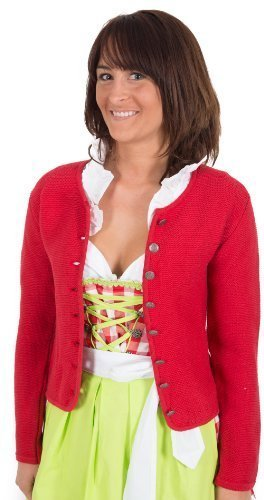 Trachten Jacke , rot, Trachtenjacke, Dirndljacke, Dirndl-Jacke,Trachten Janker für Damen Größe 42