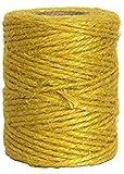 kraftz®–Rollo de 50metros hebras de yute Cuerda Natural cable para Art & CRAFT–embalaje de regalo decoración–amarillo