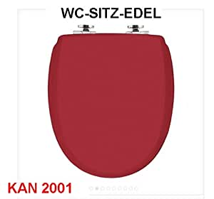 exclusiver designer wc sitz toilettensitz weinrot mittelrot made in sweden modell kan 2001 new. Black Bedroom Furniture Sets. Home Design Ideas