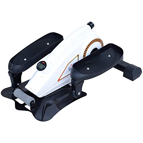 GTRAS Schrittmaschine, Elliptical Stride Trainer Pedal Exerciser Stepper Cardio-Training mit LCD-Display Einstellbarer magnetischer Widerstand