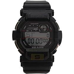Men's/Boys Designer Sporto Black And Green Sports Digital Watch Plastic Strap Watch Retro Style