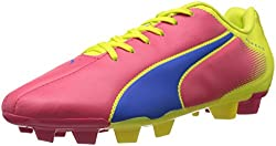 Puma Mens Adreno FG Teaberry Red, Princess Blue and Fluro Yellow Football Shoes - 9 UK/India (43 EU)