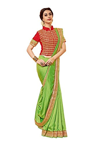 Ruchika Fashion Women\'S Pepar Silk Saree With Blouse Piece Material