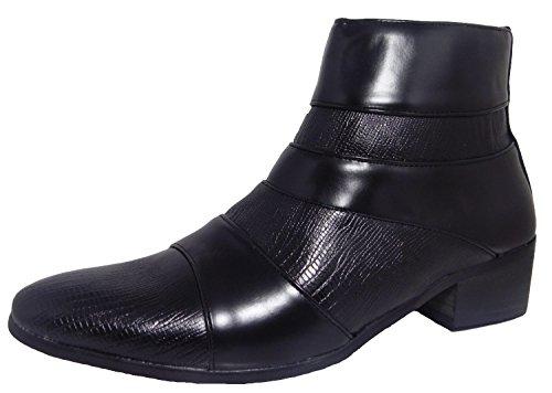 Classique  Cuban Heel, Herren Stiefel, schwarz - Black Cuban - Größe: 45 (Cuban Stiefel Herren Heel)