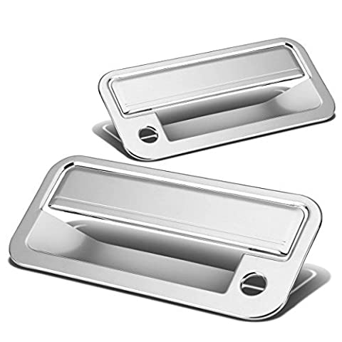 Chevy C/K Series/Tahoe/GMC Yukon 2pcs Exterior Door Handle Cover with Passenger Keyhole (Chrome) by Auto