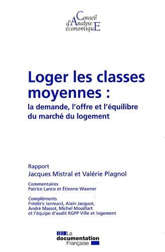 Loger les classes moyennes : la demande, l'offre et l'équilibre du marché du logement (CAE n.82)
