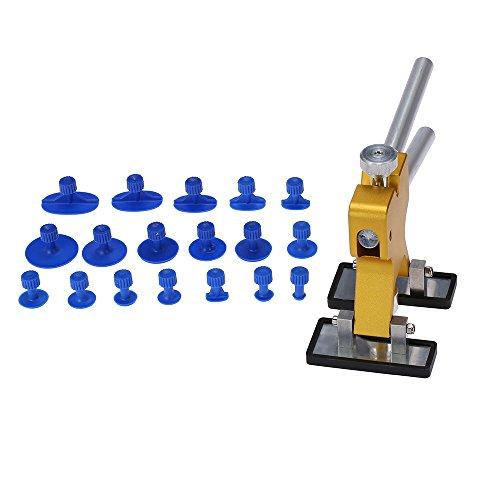 KKmoon KFZ Dellen Reparaturset Dellen Reparatur Paintless Dent Lifter Karosserie Repair Tool Abzieher 18 Tabs Hagel Entfernen Werkzeug für Auto Kühlschränken Motorrädern Waschmaschinen