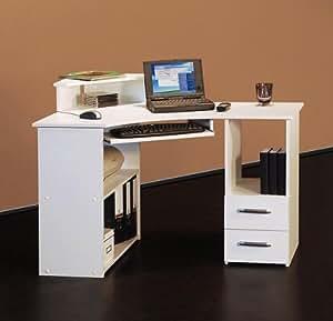 4505 115cm eck schreibtisch computertisch in wei rechts version k che. Black Bedroom Furniture Sets. Home Design Ideas