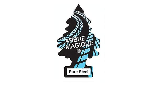 Arbre Magique 1710489 Wunderbaum Lufterfrischer Pure Steel 1 Pezzo Auto
