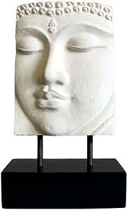 Visage Bouddha en gres - Fait main