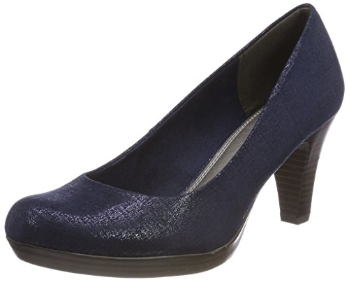 Marco Tozzi Damen 22411 Pumps, Blau (Navy Metallic), 37 EU