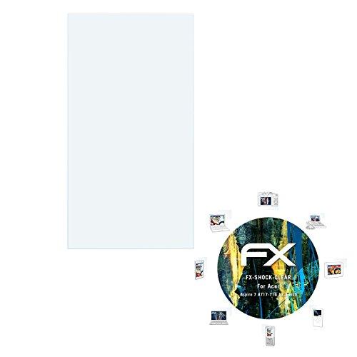 atFolix Schutzfolie kompatibel mit Acer Aspire 7 A717-71G 17,3 inch Panzerfolie, ultraklare & stoßdämpfende FX Folie (2X)