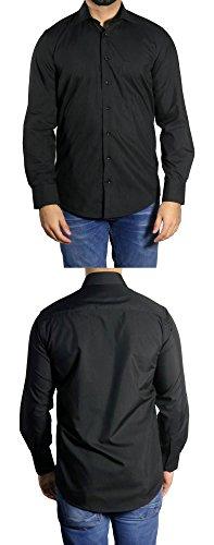 Muga Business & Freizeit Hemd Schwarz
