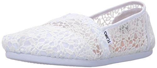 TOMS Damen Women Alpargata White Espadrilles, Weiß Lace Leaves 001, 39 EU - Damen Toms Spitze Schuhe