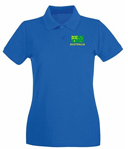 T-Shirtshock - Polo pour femme WC0030 AUSTRALIA Bleu Royal