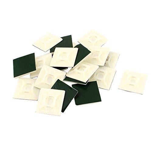 sourcingmap® 20stk 28mm x 28mm Selbstklebende Kabel Draht Binder Clip Wandhalter Quadratische