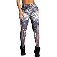 Pantalones de Yoga,❦JiaMeng Las Mujeres de Cintura Alta Yoga Fitness Leggings Corriendo Gym Stretch Sports Pants Pantalones