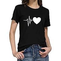 Luckycat Camisetas Para Mujer Patrón Impreso Crop Top Chica Joven Casual De Moda Media Cintura Top Corto Blusas De Señora T-Shirt